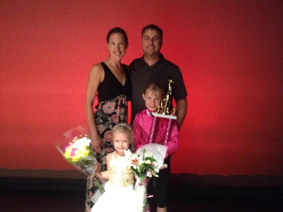 family at dance recital